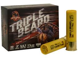 "Hevi-Shot Triple Beard Turkey Ammunition 20 Gauge 3"" 1-1/4 oz #5, #6, & #7 Shot Box of 10"