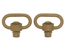 "GrovTec Heavy Duty Push Button Quick Detach Sling Swivel 1-1/4"" Steel Package of 2 CERAKOTE"