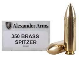 Alexander Arms Ammunition 50 Beowulf 350 Grain Millennium Solid Brass Spitzer Box of 20