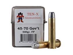 Ten-X Cowboy Ammunition 45-70 Government 500 Grain Flat Point Box of 20