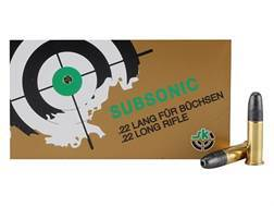 SK Subsonic Ammunition 22 Long Rifle 40 Grain Lead Round Nose Hollow Point Box of 500 (10 Boxes of 50)