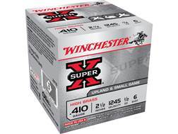 "Winchester Super-X High Brass Ammunition 410 Bore 2-1/2"" 1/2 oz #6 Shot"