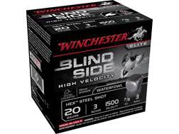 "Winchester Blind Side High Velocity Ammunition 20 Gauge 3"" 7/8 oz #3 Non-Toxic Steel Shot"