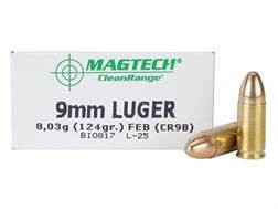 Magtech Clean Range Ammunition 9mm Luger 124 Grain Encapsulated Round Nose Box of 50