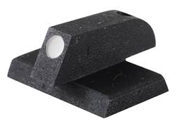 """Kensight Front Sight 1911 Novak Cut Flat Base .170"""" Height .115"""" Width Steel Black Serrated Blade with White Dot"""