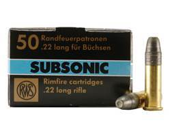 RWS Subsonic Ammunition 22 Long Rifle 40 Grain Lead Hollow Point