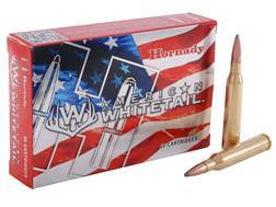 Hornady American Whitetail Ammunition 25-06 Remington 117 Grain Interlock Spire Point Boat Tail Box of 20