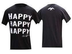 "Duck Commander Men's ""Happy Happy Happy"" T-Shirt Short Sleeve Cotton Black Large"