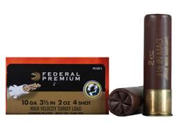 "Federal Premium Mag-Shok Turkey Ammunition 10 Gauge 3-1/2"" 2 oz #4 Copper Plated Shot High Velocity Box of 10"