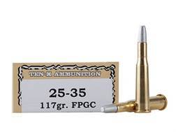 Ten-X Cowboy Ammunition 25-35 WCF 117 Grain Lead Flat Point Gas Check Box of 20