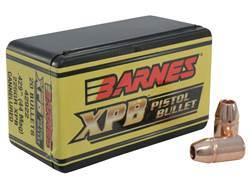 Barnes XPB Handgun Bullets 44 Caliber (429 Diameter) 225 Grain Solid Copper Hollow Point Lead-Free Box of 20