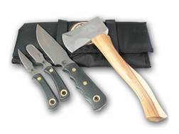 Knives of Alaska Hunter Pro Pack 4 Piece Set with Hatchet