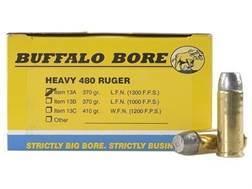 Buffalo Bore Ammunition 480 Ruger 370 Grain Lead Long Flat Nose Box of 20