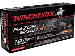 Winchester Razorback XT Ammunition 7.62x39mm Russian 123 Grain Hollow Point Lead-Free