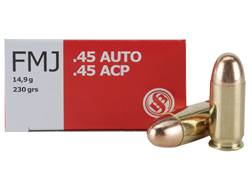 Sellier & Bellot Ammunition 45 ACP 230 Grain Full Metal Jacket Box of 50