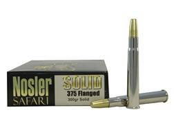 Nosler Safari Ammunition 375 Flanged Magnum 300 Grain Solid Box of 20