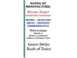 "Green Stripe Data Books ""Sturm Ruger"" Book by Firing Pin Enterprises"