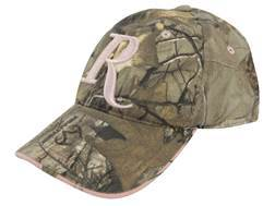 Remington Women's Camo Logo Cap Cotton Realtree Xtra Camo and Pink