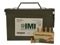 IMI Ammunition 9mm Luger 115 Grain Di-Cut Jacketed Hollow Point Ammo Can of 500 (10 Boxes of 50)