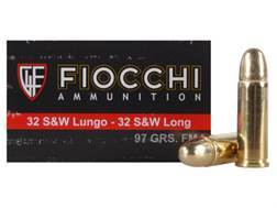 Fiocchi Shooting Dynamics Ammunition 32 S&W Long 97 Grain Full Metal Jacket Box of 50