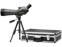 Leupold SX-1 Ventana Spotting Scope 20-60x 80mm Angled Body Armored Black with Tripod, Hard and Soft Case