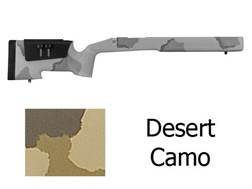 McMillan A-4 Rifle Stock with Saddle Cheekpiece Remington 700 BDL Short Action Varmint Barrel Channel Fiberglass Molded-In Desert Camo Semi-Inletted