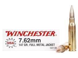 Winchester Ammunition 7.62x51mm NATO 147 Grain Full Metal Jacket