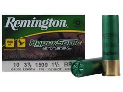 "Remington HyperSonic Ammunition 10 Gauge 3-1/2"" 1-1/2 oz BBB Non-Toxic Shot"