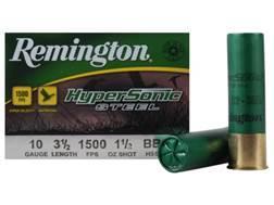 "Remington HyperSonic Ammunition 10 Gauge 3-1/2"" 1-1/2 oz BBB Non-Toxic Shot"