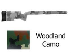 McMillan A-5 Rifle Stock Remington 700 BDL Short Action Varmint Barrel Channel Fiberglass Molded-In Woodlands Camo Semi-Inletted