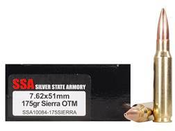 Silver State Armory Ammunition 7.62x51mm NATO 175 Grain Sierra MatchKing Box of 20