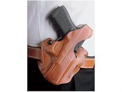 DeSantis Thumb Break Scabbard Belt Holster Right Hand Glock 36 Suede Lined Leather Tan