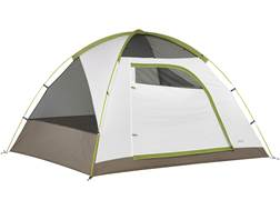 "Kelty Yellowstone 4 4 Man Dome Tent 99"" x 81"" x 59"" Polyester White and Lime Green"
