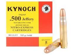 Kynoch Ammunition 500 Jeffery 535 Grain Woodleigh Weldcore Solid Box of 5