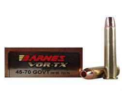 Barnes VOR-TX Ammunition 45-70 Government 300 Grain Triple-Shock X Bullet Flat Nose Lead-Free Box...