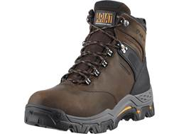 "Ariat Workhog Trek 6"" H2O Waterproof Work Boots Leather and Nylon Oily Distressed Brown Men's"