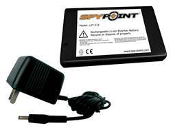 Spypoint Rechargeable Lithium Battery and AC Charger for Spypoint Game Cameras