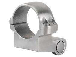 "Ruger 1"" Extended Front Ring Mount 4KO Silver Medium"