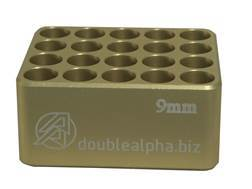 Double-Alpha Golden 20 Pocket Cartridge Gauge 9mm Anodized Aluminum