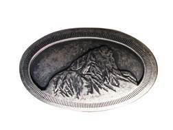 Mountain Khakis Teton Belt Buckle Tinned Pewter