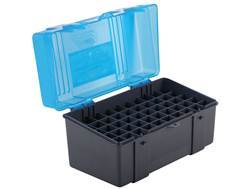 Plano Ammo Box 25-06 Remington, 280 Remington, 30-06 Springfield 50-Round Plastic Dark Gray and Clear Blue
