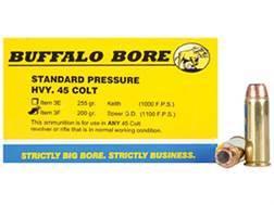 Buffalo Bore Ammunition 45 Colt (Long Colt) 200 Grain Jacketed Hollow Point Box of 20