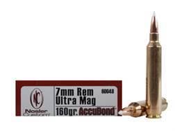 Nosler Trophy Grade Ammunition 7mm Remington Ultra Magnum 160 Grain AccuBond Box of 20