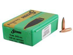Sierra GameKing Bullets 243 Caliber, 6mm (243 Diameter) 100 Grain Spitzer Boat Tail Box of 100