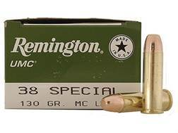 Remington UMC Ammunition 38 Special 130 Grain Full Metal Jacket Box of 250
