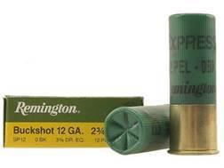 "Remington Express Ammunition 12 Gauge 2-3/4"" 0 Buckshot 12 Pellets Box of 5"