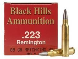 Black Hills Ammunition 223 Remington 69 Grain Sierra MatchKing Hollow Point Moly Box of 50