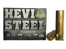 "Hevi-Shot Hevi-Steel Waterfowl Ammunition 12 Gauge 3-1/2"" 1-3/8 oz BBB Non-Toxic Shot"