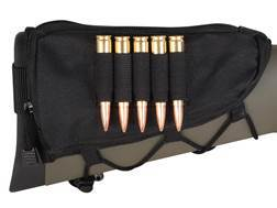 MidwayUSA Rifle Cheek Rest with Rifle Ammunition Carrier 5-Round Fixed Stock Nylon Black