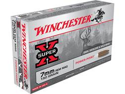 Winchester Super-X Ammunition 7mm Remington Magnum 150 Grain Power-Point Box of 20